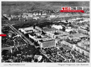 Panorame Podgorice sa obije strane Morače ranih šezdesetih