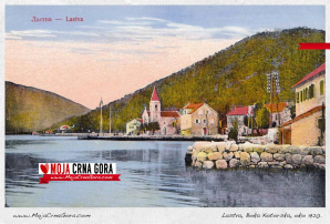 Stara razglednica: Donja Lastva (oko 1920.)